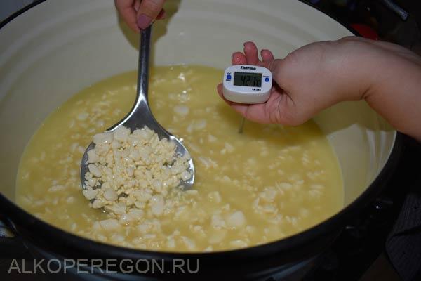 нагрев сырного зерна