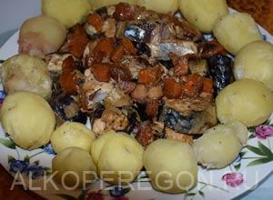 Запеченная скумбрия с овощами в печи