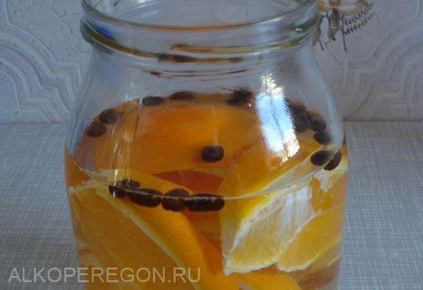 самогон на кофе и апельсиновых корках