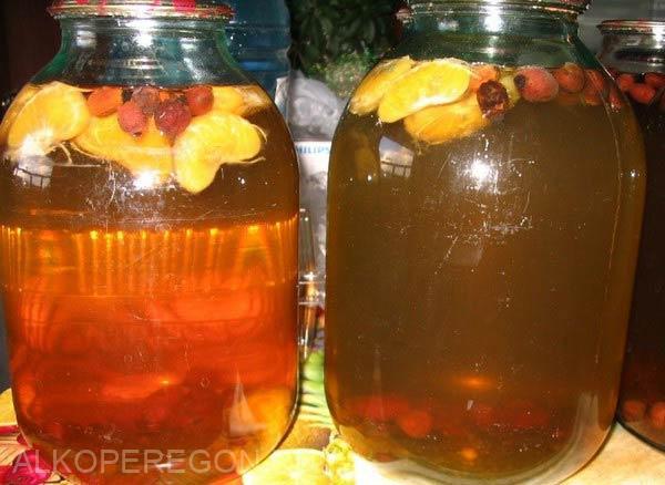 квас из апельсинов и березового сока