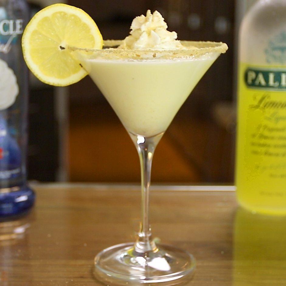 Лимончелло слоистый со сливками