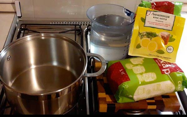 ингредиенты для инвертирования сахара для браги