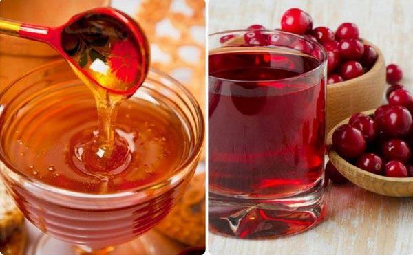 морс из клюквы с мёдом