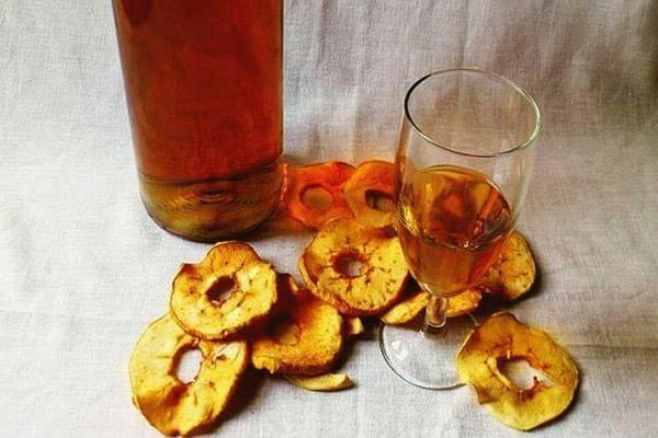 настойка на сушеных яблоках