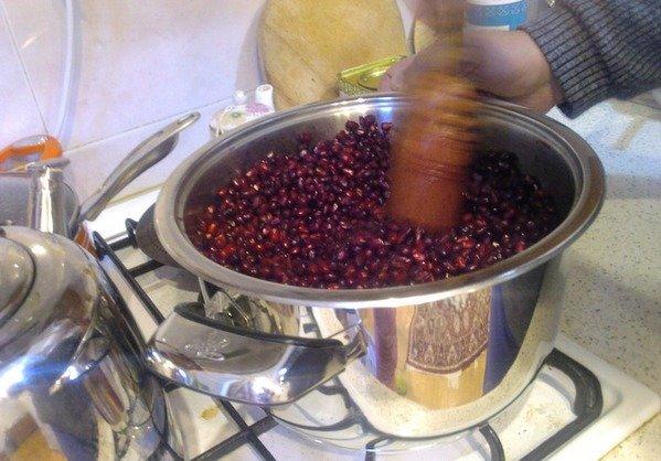 приготовление гранатового вина