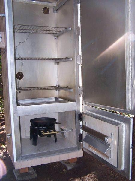 коптильня горячего копчения из холодильника