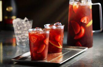 коктейль с красным вином